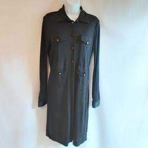 Tory Burch Black Silk Shift Dress Size Medium